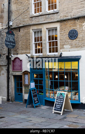 Sally Lunns tearooms, Bath, England - Stock Photo