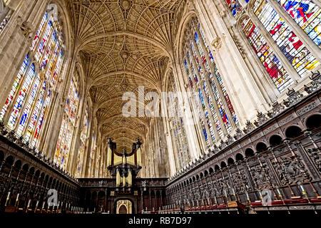 King's College (Cambridge, England) - Stock Photo