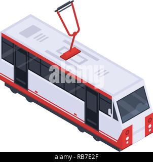 City tram car icon, isometric style - Stock Photo