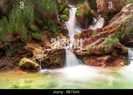 Long time exposure of Kravica waterfall in Bosnia and Herzegovina - Stock Photo