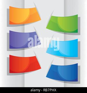 Colorful label paper, vector illustration - Stock Photo