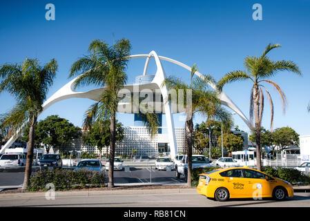Theme Building. Los Angeles International Airport. Los Angeles. California. - Stock Photo