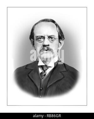 Joseph John Thomson 1856 - 1940 English Physicist - Stock Photo
