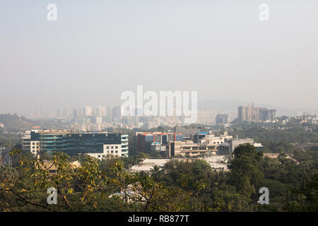 Mumbai / India - November 2011: View over a suburb of Mumbai called Andheri East. - Stock Photo
