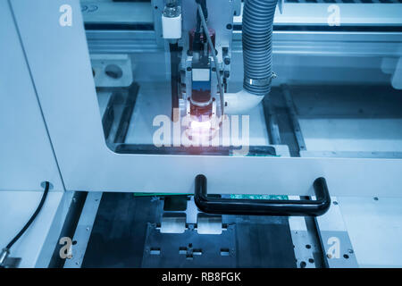 Robotic vision sensor camera system in intellegence factory - Stock Photo