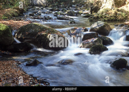 Mountain stream near the Col de Aspin. Hautes-Pyrenees .France. - Stock Photo