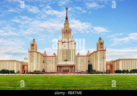 Lomonosov Moscow State University - MSU. MSU is one of Seven Sisters. Russia - Stock Photo