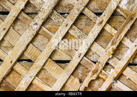 ceiling repair old decor background - Stock Photo
