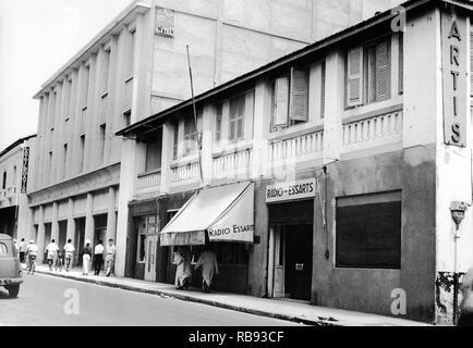 Dakar (Sénégal) in the 50's : 18 Rue des Essarts - Stock Photo