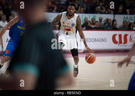 Mestre, Italy. 08th Jan, 2019. Stone Basketball Champion League Reyer Vs Opava, Venice Italy 08, January 2019 Credit: Independent Photo Agency/Alamy Live News - Stock Photo