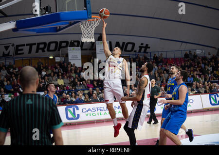 Mestre, Italy. 08th Jan, 2019. Bramos Basketball Champion League Reyer Vs Opava, Venice Italy 08, January 2019 Credit: Independent Photo Agency/Alamy Live News - Stock Photo