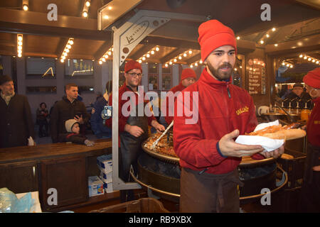 Gent Christmas market, Belgium December 2018 - Stock Photo