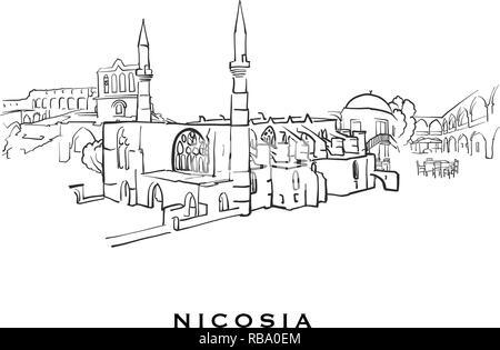Cyprus silhouette skyline  Cyprus vector city, cypriot