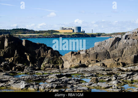 Wylfa Nuclear Power plant on Anglesey, North Wales was to be turned into a multi billion nuclear site.Due to funding issues the project is now on hold - Stock Photo
