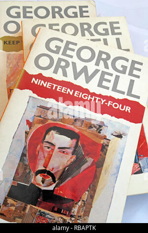 George Orwell 1984 Nineteen Eighty Four book quote, War Is Peace, Freedom Is slavery, Ignorance Is Strength, - Stock Photo