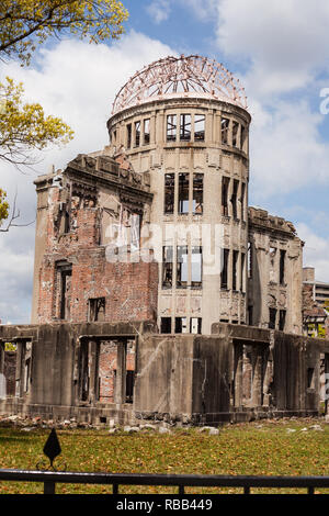 Damaged building from hiroshima in Japan - Stock Photo