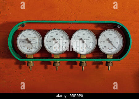 Manometers are the devices for gas pressure control - Stock Photo