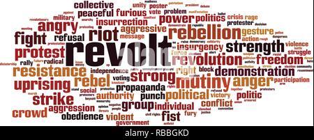 Revolt word cloud concept. Vector illustration - Stock Photo