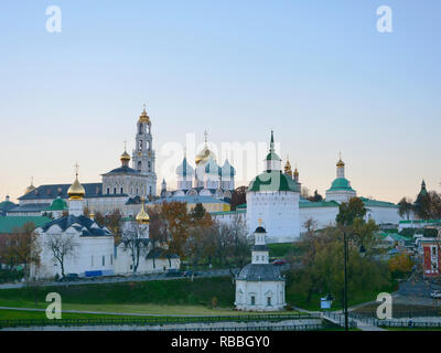 Architectural Ensemble of the Trinity Sergius Lavra in Sergiev Posad in Moscow Russia. Russian monastery and the spiritual centre of the Russian Ortho - Stock Photo