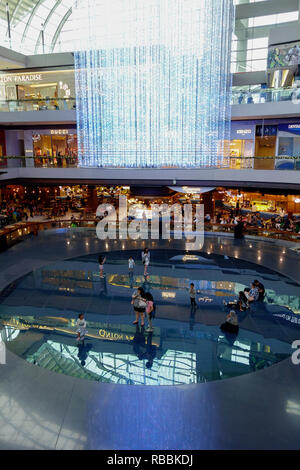 The Shoppes at Marina Bay Sands - a luxury shopping mall in the Marina Bay Sands hotel & casino complex. Singapore. - Stock Photo