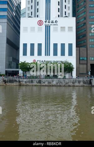 Bank of China, Singapore - Stock Photo