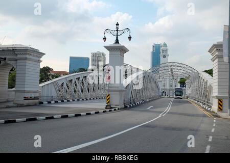 Anderson Bridge, Singapore - Stock Photo