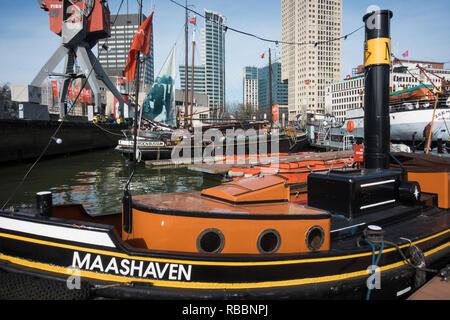 Maashaven Rotterdam, Maritiem museum Rotterdam. - Stock Photo