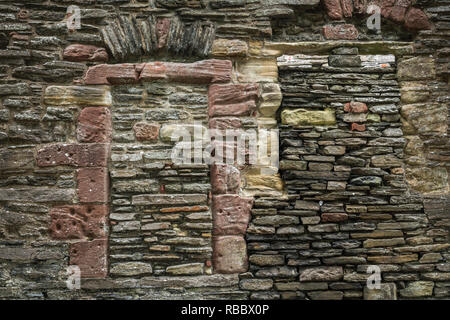 The Bishop's and Earl's Palace in Kirkwall, Orkney Isles, Scotland, United Kingdom, Europe. - Stock Photo
