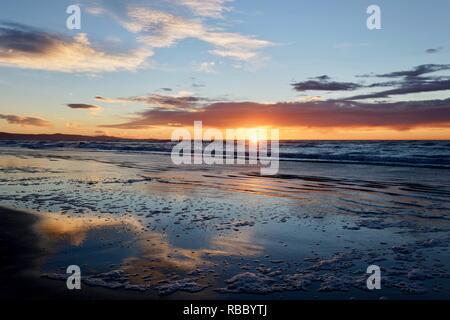New Zealand Sunrise Waikuku Beach