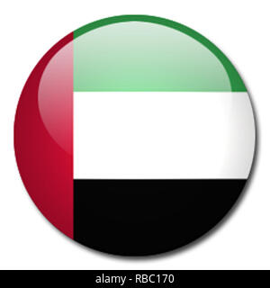United Arab Emirates flag - Stock Photo