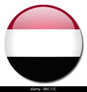yemen flag - Stock Photo