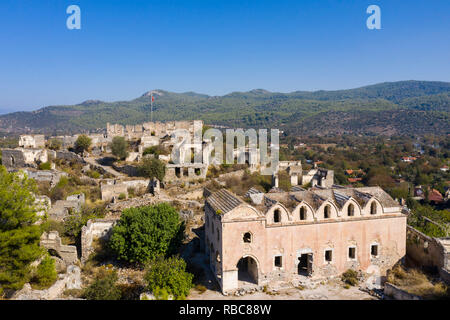 Turkey, Fethiye, Kayakoy (Mugla) Ghost Town, a former greek colony and now an abandoned town and open air museum - Stock Photo