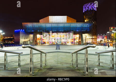 The Lowry Theatre at Salford Quays - Stock Photo