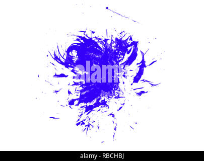 Colorful abstract watercolor stain with splashes and spatters. - Stock Photo