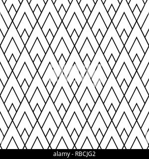 Abstract lozenges seamless pattern. Geometric repeat with rhombs - Stock Photo