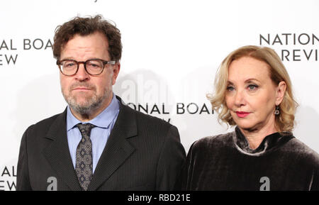 Kenneth Lonergan and J. Smith-Cameron attends the 2019 National Board Of Review Gala at Cipriani 42nd Street on January 08, 2019 in New York City. Credit: Walter McBride/MediaPunch - Stock Photo