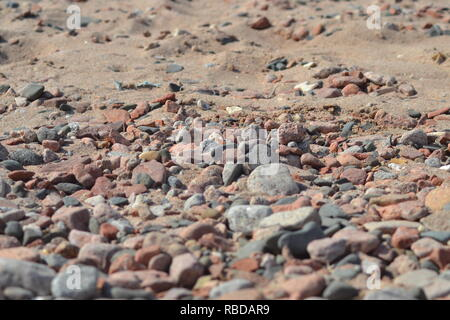 A wonderful view small stones on the shore in Dahab, red sea , Egypt , middle east - Stock Photo