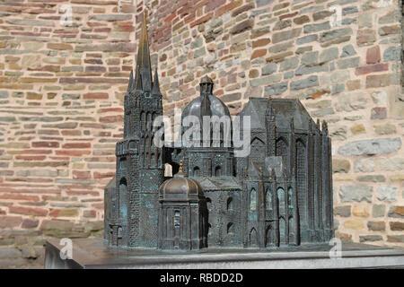 Model, cathedral, Aachen, North Rhine-Westphalia, Germany, Modell, Dom, Nordrhein-Westfalen, Deutschland - Stock Photo