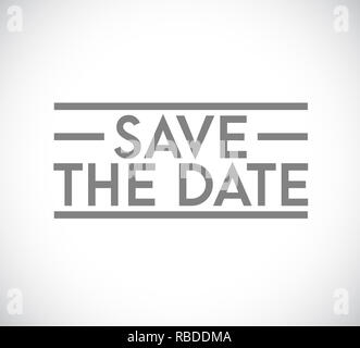 Save the date stamp concept. infographic illustration. white Background - Stock Photo