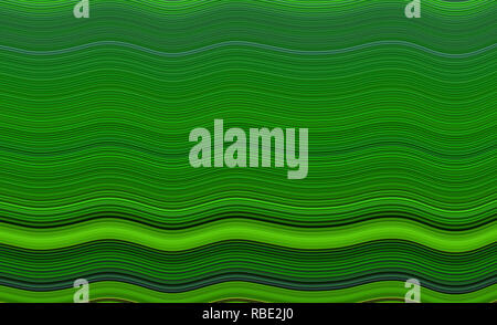 Horizontal wavy lines in shades of green, abstract background with effect - Stock Photo