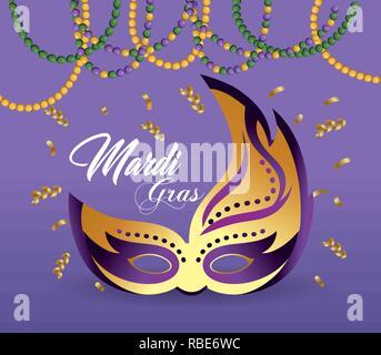 mask decoration to merdi gras event - Stock Photo