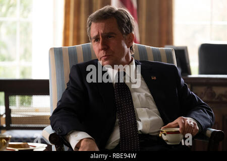 Prod DB © Matt Kennedy - Annapurna Pictures - Gary Sanchez Productions - Plan B Entertainment / DR VICE de Adam McKay 2018 USA Sam Rockwell. George W. Bush; biopic; biographie; biography; homme politique; politicien; politician - Stock Photo