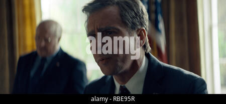 Prod DB © Annapurna Pictures - Gary Sanchez Productions - Plan B Entertainment / DR VICE de Adam McKay 2018 USA Sam Rockwell. George W. Bush; biopic; biographie; biography; homme politique; politicien; politician - Stock Photo