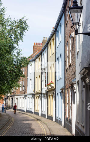 Period houses, Prince Street, Old Town, Kingston upon Hull, East Riding of Yorkshire, England, United Kingdom - Stock Photo