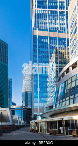 Moscow, Russia - October 17, 2018: Street Moscow-city (Moscow International Business Center). - Stock Photo