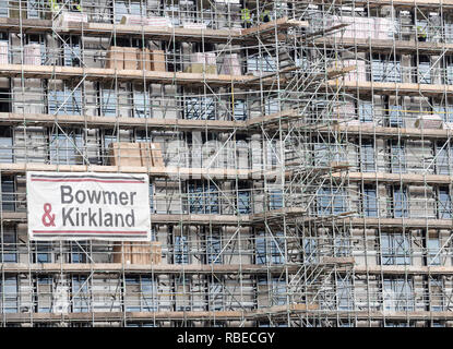 Hampton by Hilton hotel construction in Stockton on Tees, north east England. UK - Stock Photo