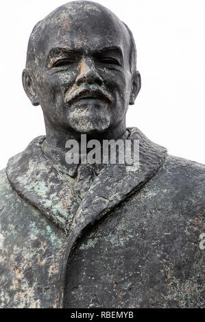 Part of the full length Lenin statue at Memento Park or Statue Park, (Szoborpark) Budapest, Hungary - Stock Photo