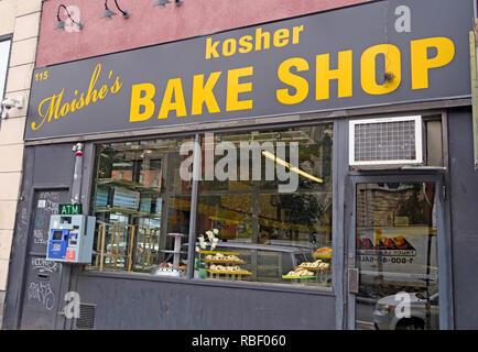 Moishes Kosher Bake Shop 115 2nd Ave, East Village, Manhattan, New York, NYC, USA - Stock Photo