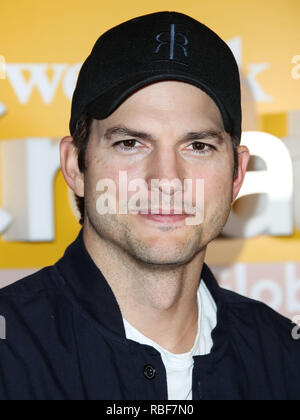 Los Angeles, California, USA. 9th January, 2019. Ashton Kutcher arrives at the WeWork Creator Awards Global Finals 2019 held at Microsoft Theatre L.A. Live on January 9, 2019 in Los Angeles, California, United States. (Photo by Xavier Collin/Image Press Agency) Credit: Image Press Agency/Alamy Live News - Stock Photo