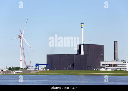 abandoned nuclear power plant in Germany - Stock Photo